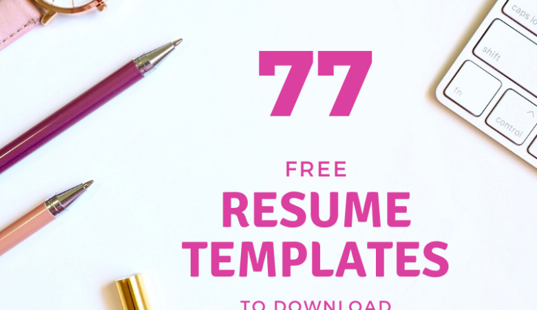resume templates download free