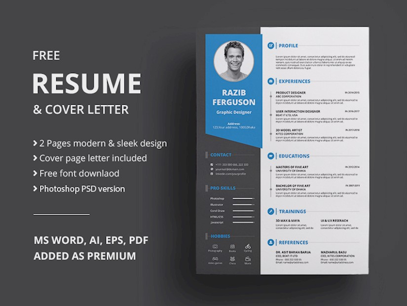 40 Beautiful Free Resume Templates To Download Right Now