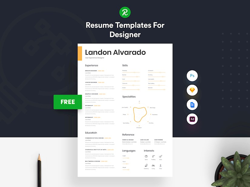 Free Creative Resume Templates Microsoft Word from onedesblog.com