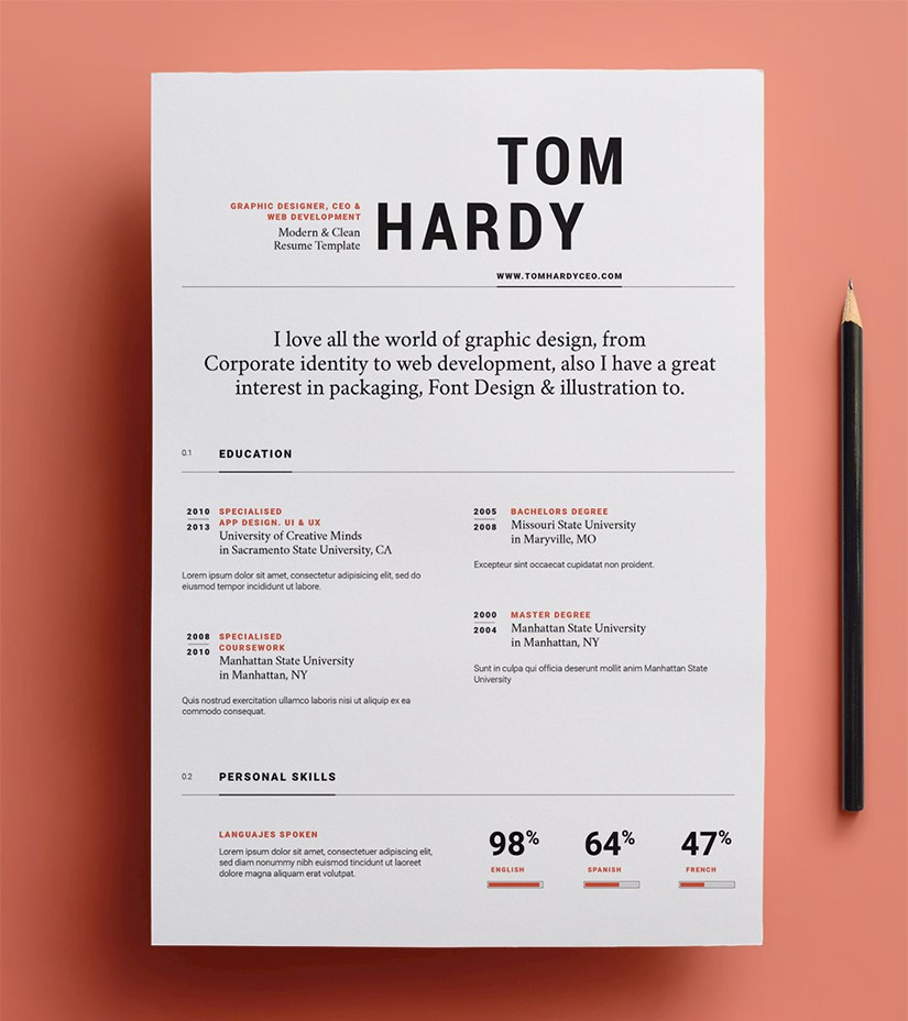 Illustrator Resume Templates from onedesblog.com