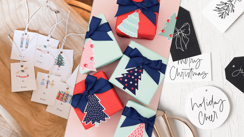 christmas gift tags cover