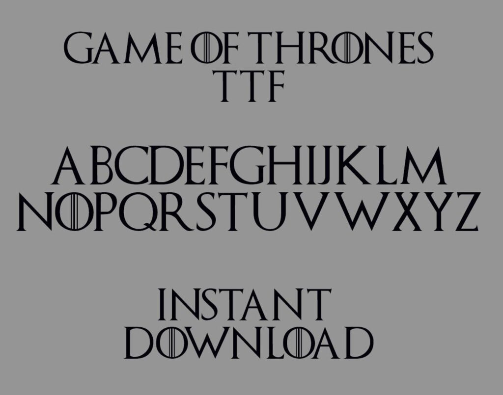 5 gameof thrones font typeface