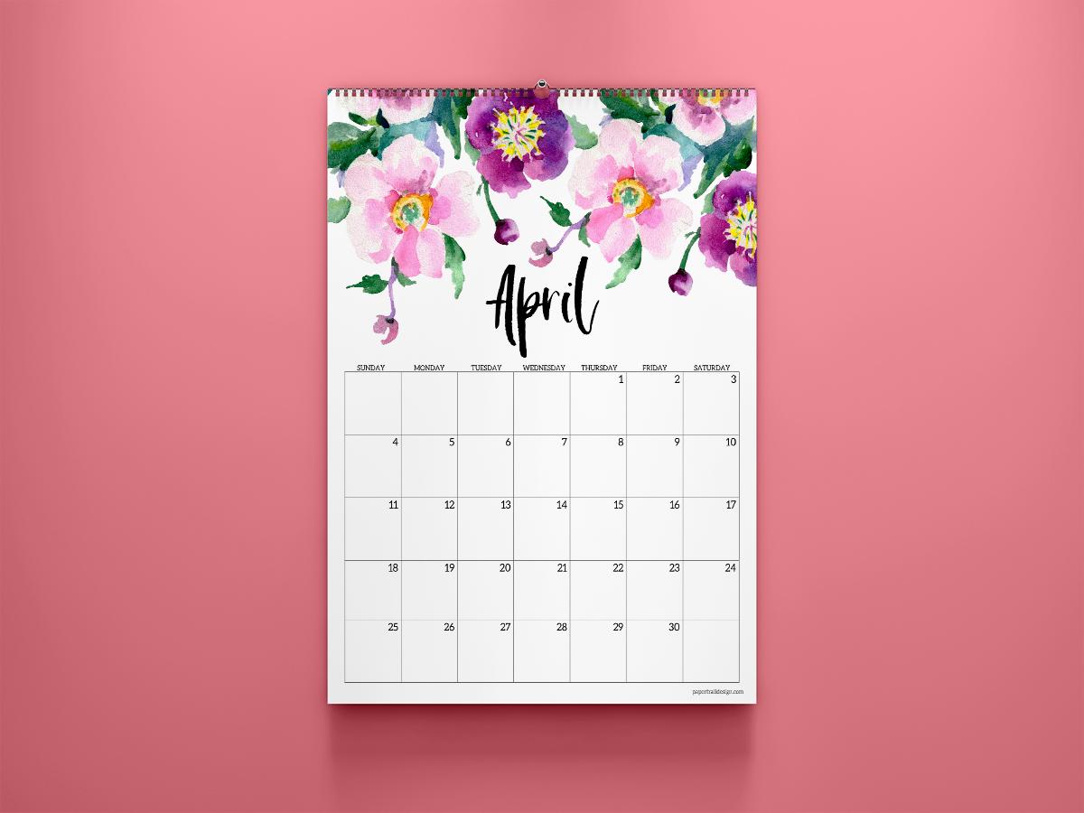 25 Best Free Printable April 2021 Calendars   Onedesblog