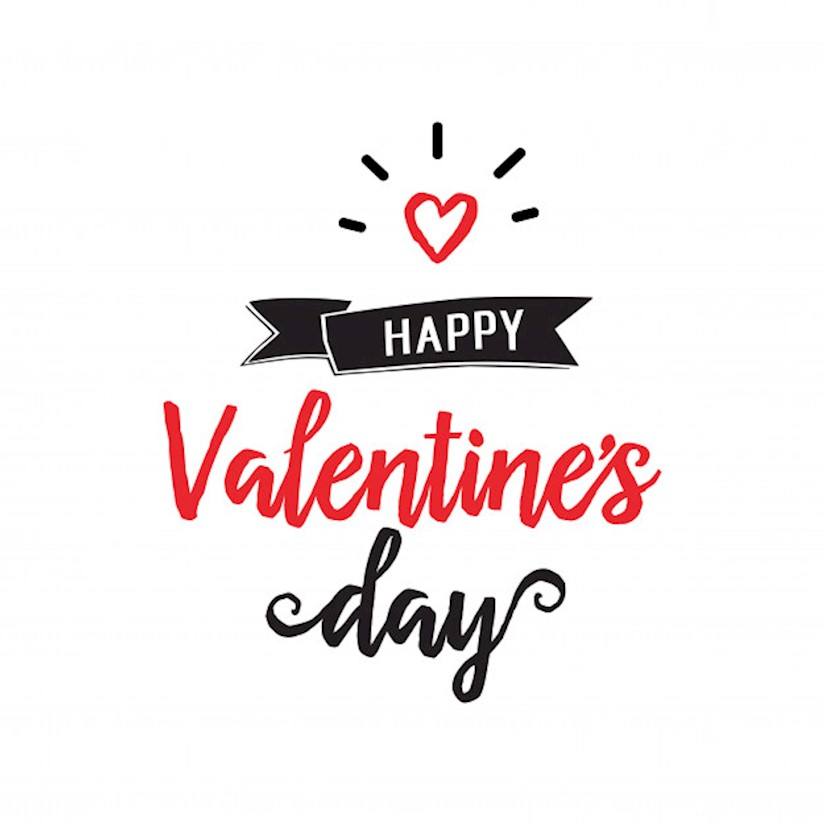 happy valentine day lettering heart image