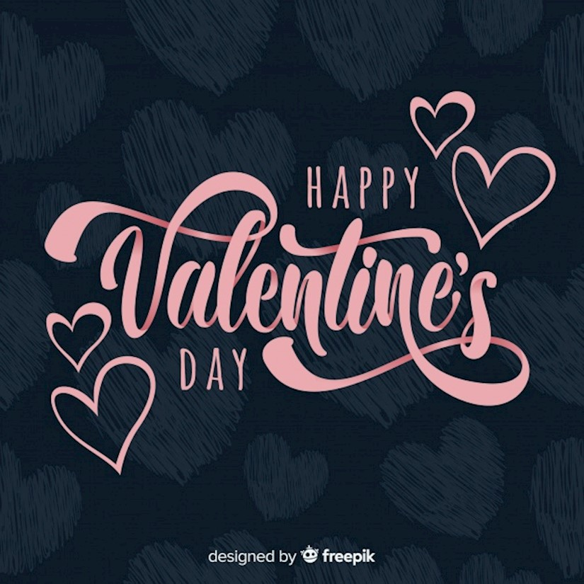 lettering valentine s day background