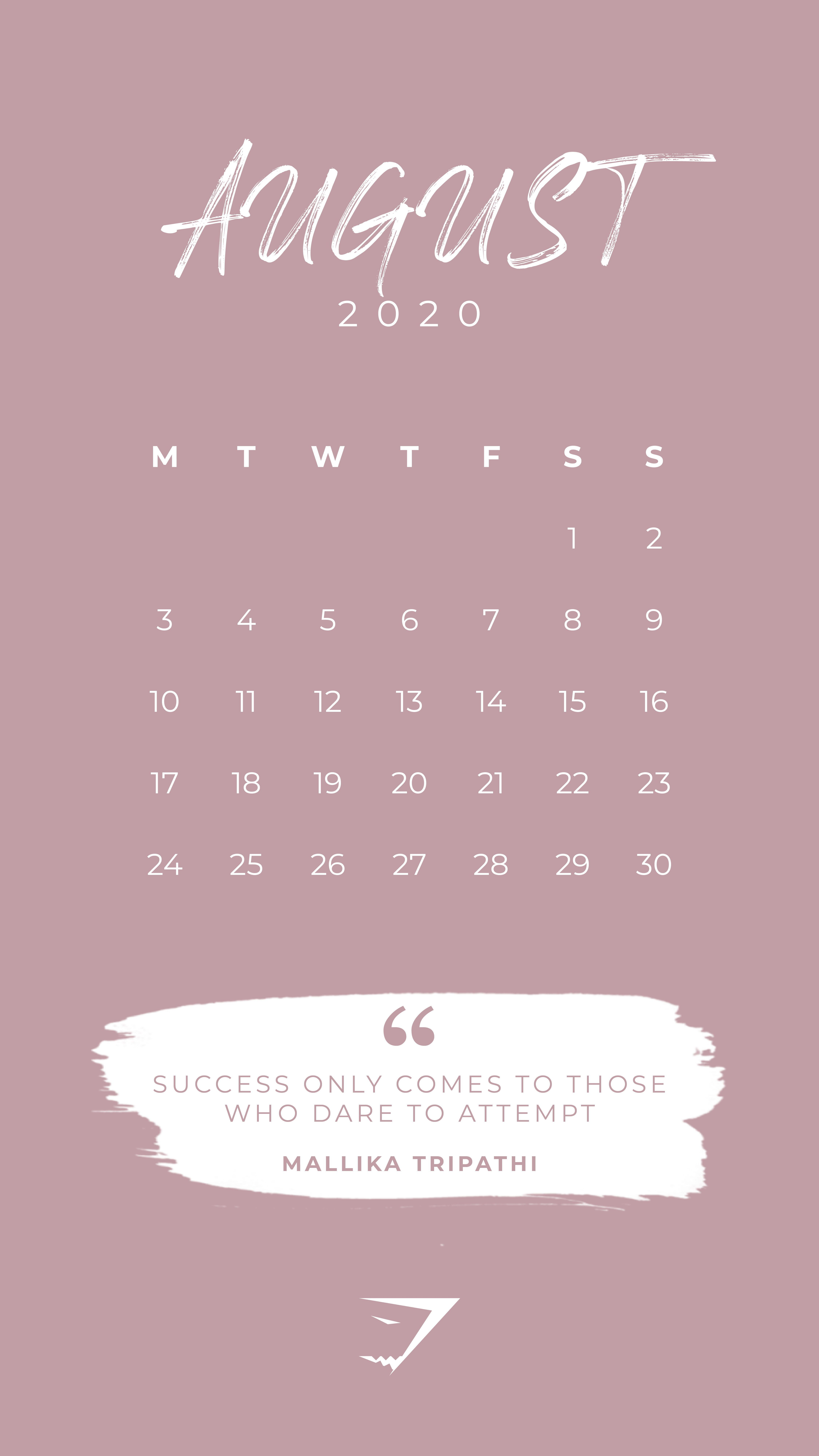 30 Beautiful Printable August 2020 Calendars for Free ...