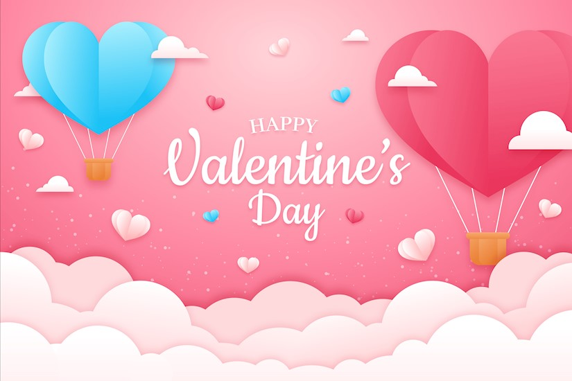 pink valentines day background concept paper style