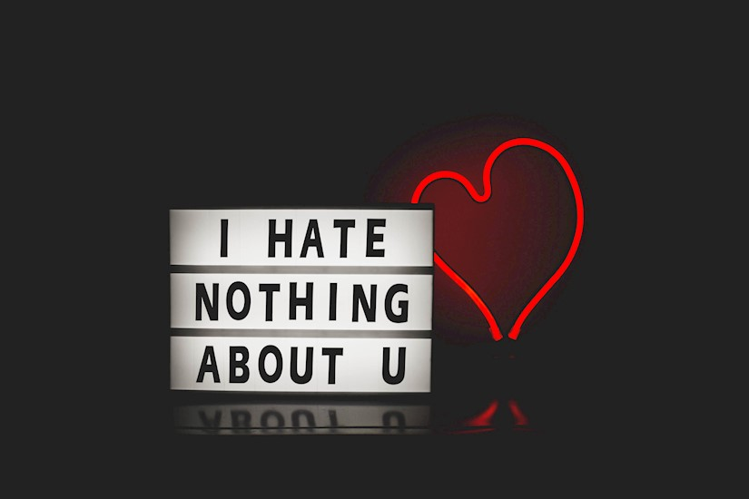 postcard i hate nothing about you valentine image