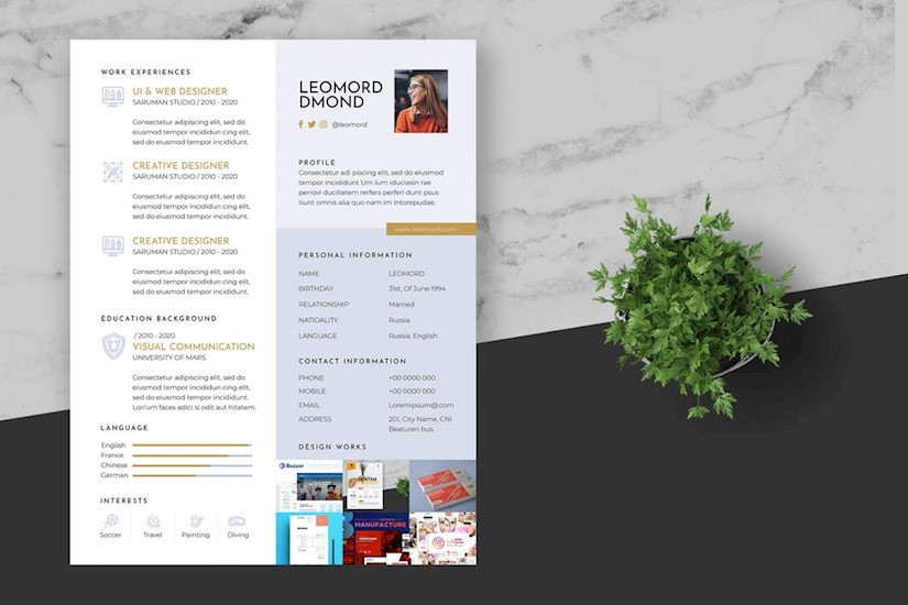 45 Creative Graphic Designer Resume Examples Templates Onedesblog