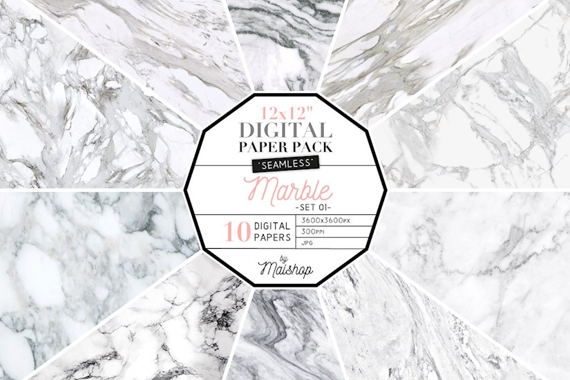 marble digital paper seamless