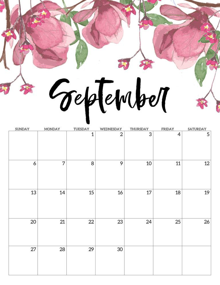60 Free Printable September 2020 Calendars To Download Onedesblog