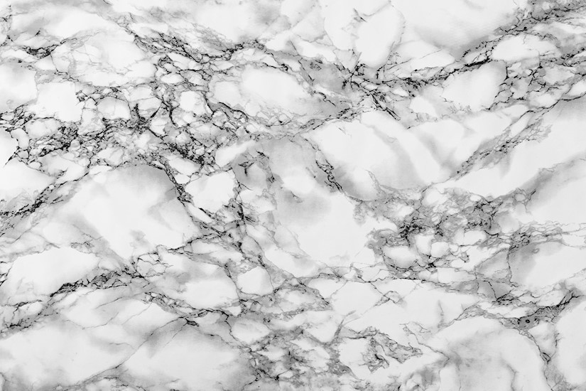 white marble shapes