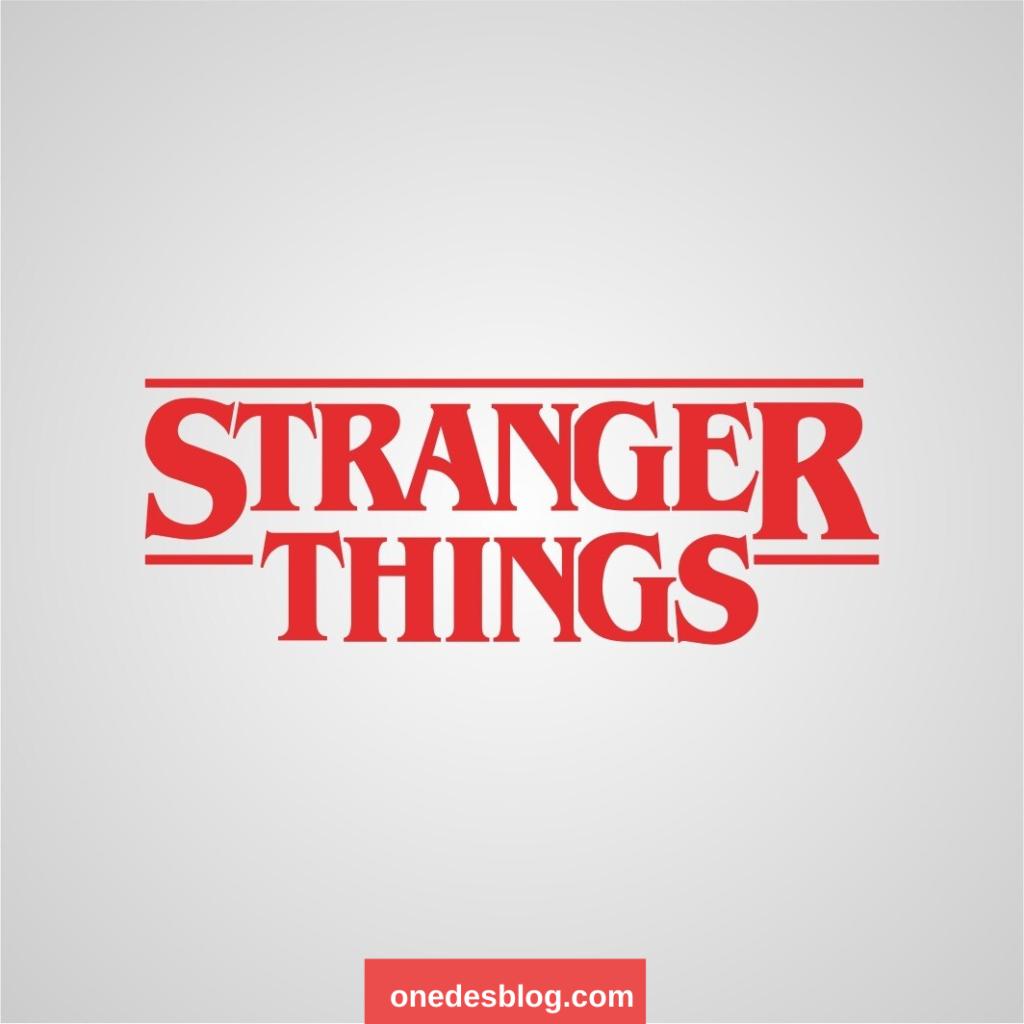 4 stranger things font 1