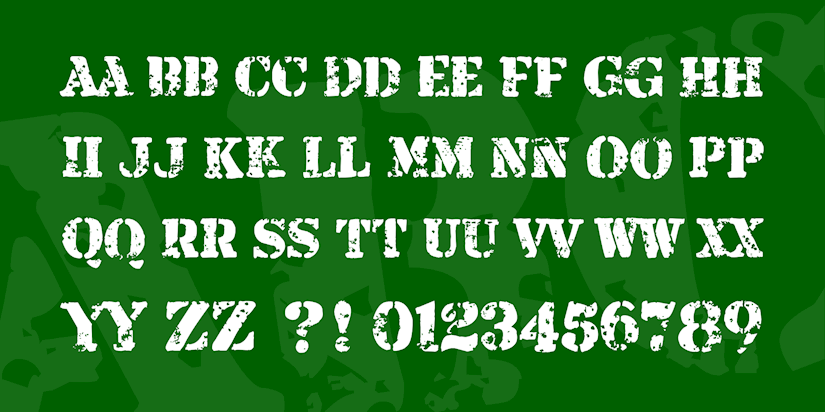 free military armalite rifle font 4 original