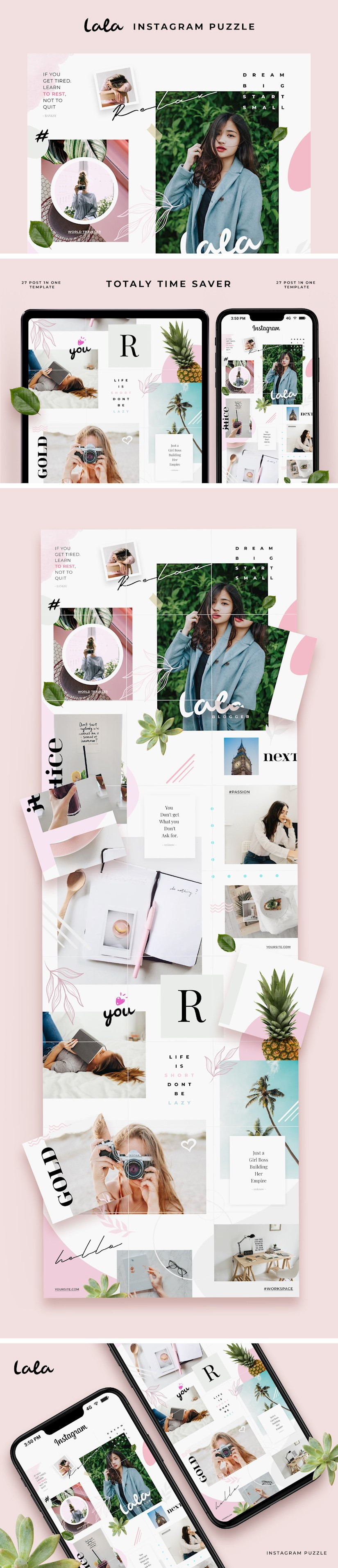 lala puzzle instagram templates