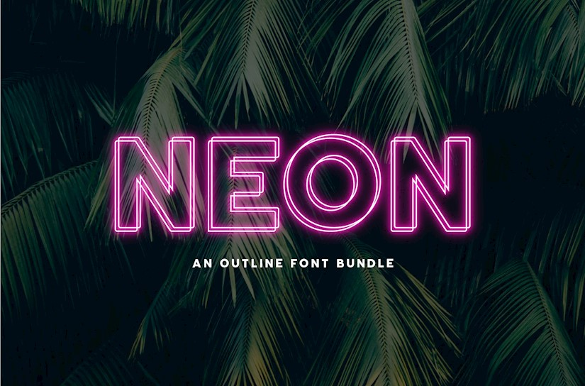 neon font by big cat creative 04