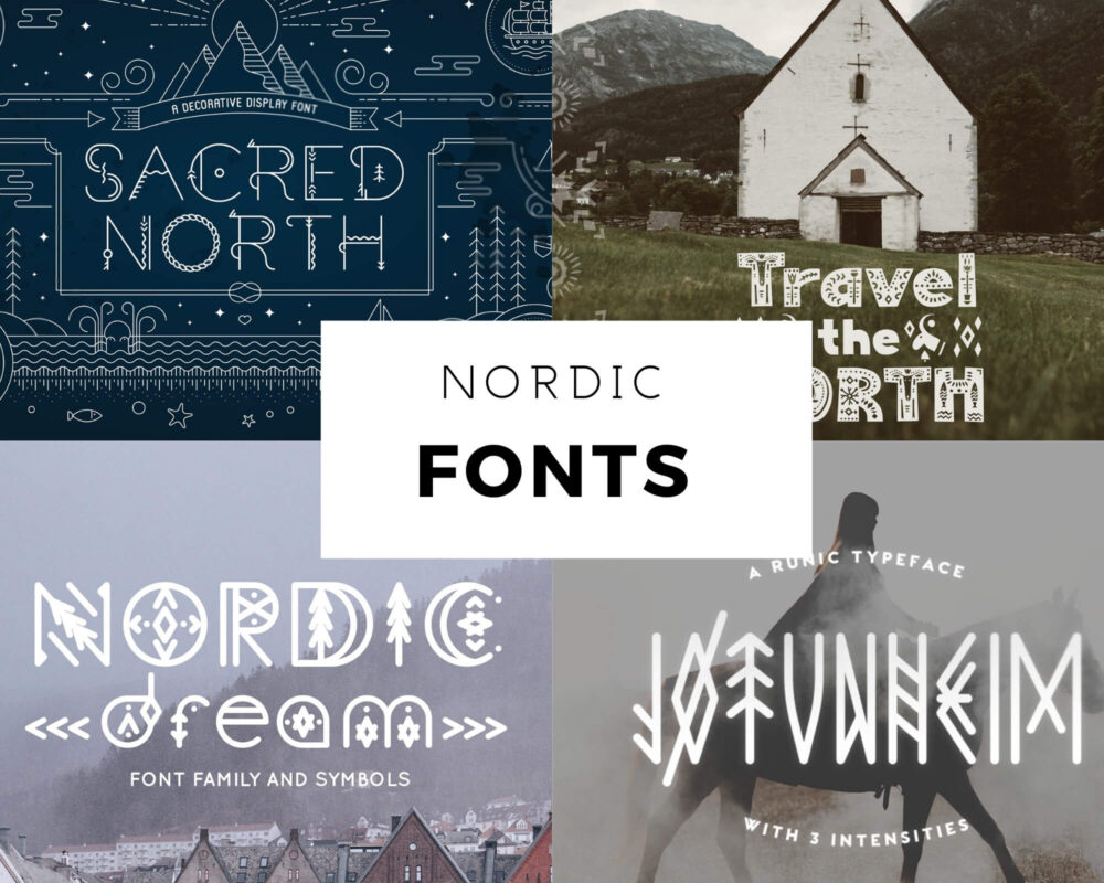 nordic fonts viking scandinavian 1 1