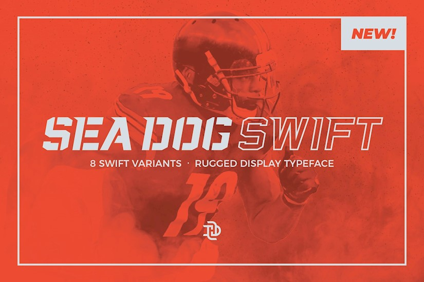 sea dog swift sports display font