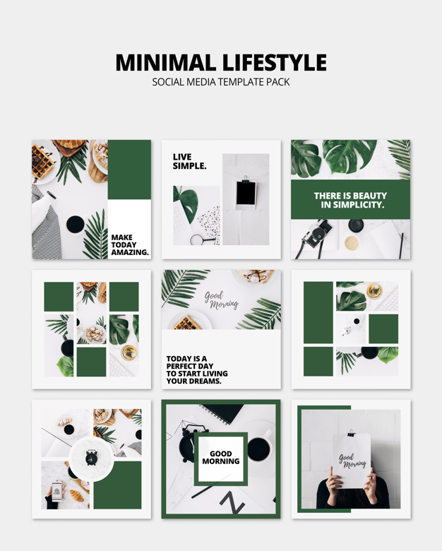 social media post mockup with lifestyle concept