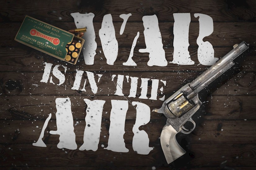 war is in the air stencil font