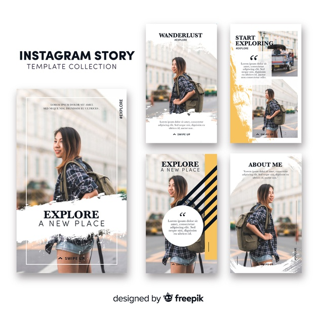 yellow instagram stories template