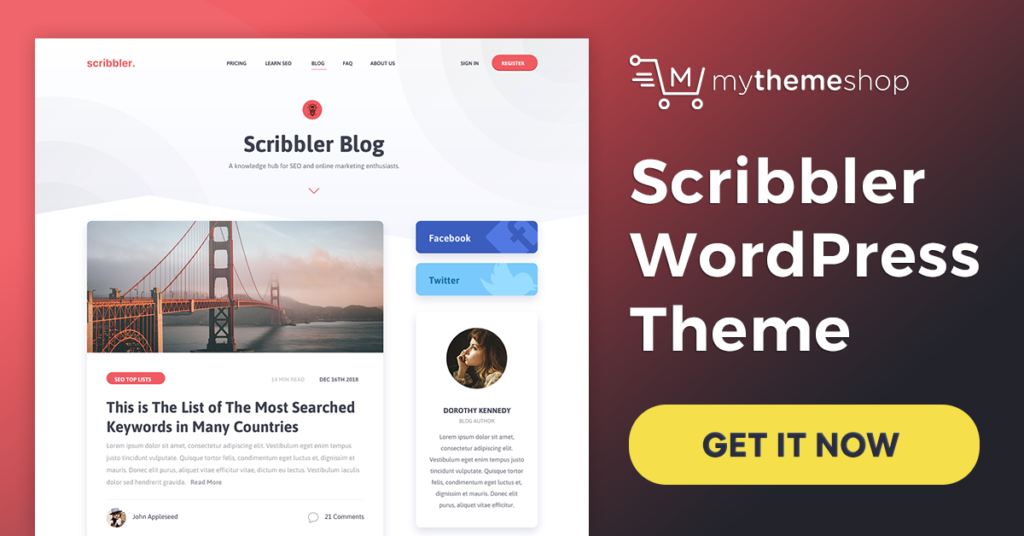 1 Scribbler WordPress Theme
