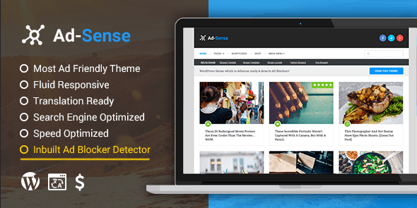 3 wordpress theme ad sence
