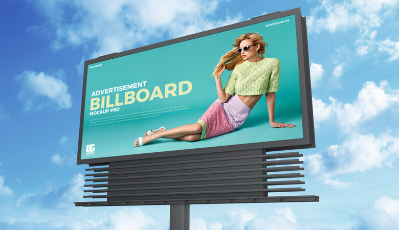 39 free sky advertisement billboard mockup psd