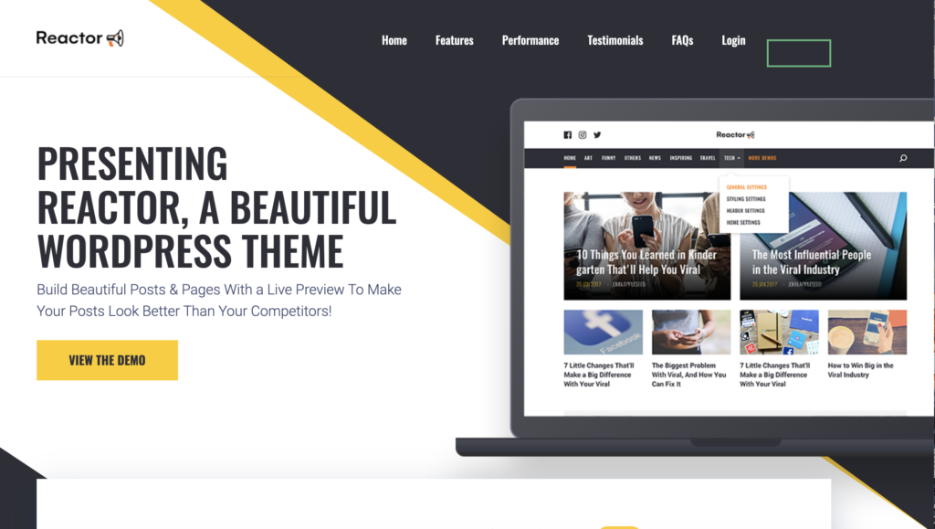 8 wordpress theme headerreactor