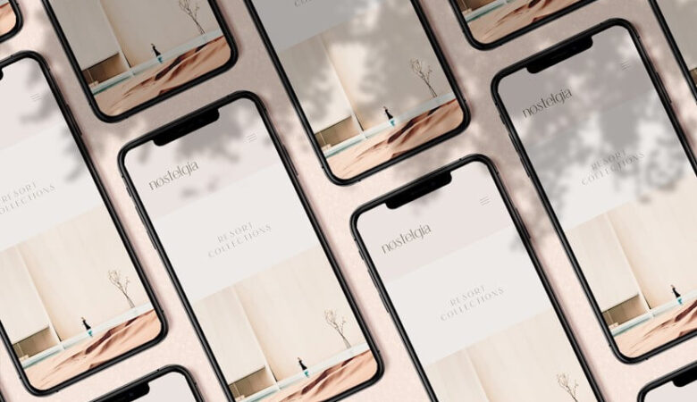 iphones digital devices mockup