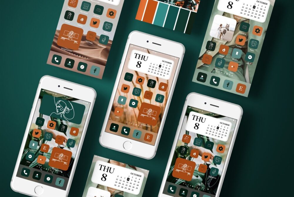 17 green boho icons ios 14