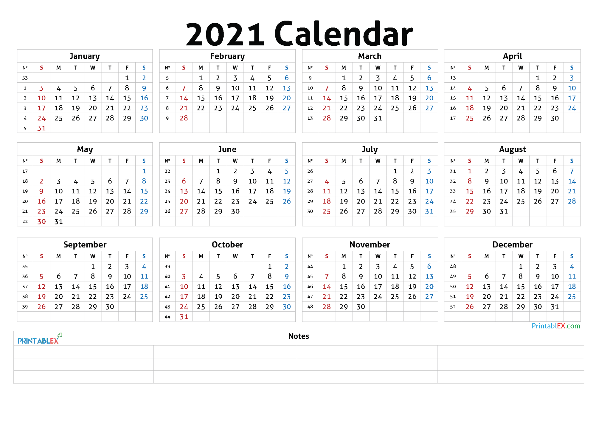 Monthly Calendar With Week Numbers 20