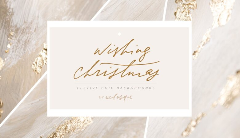 38 Christmas Gold Foil Backgrounds