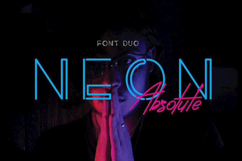 neon absolute font duo
