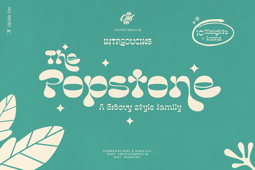 popstone groovy variable font