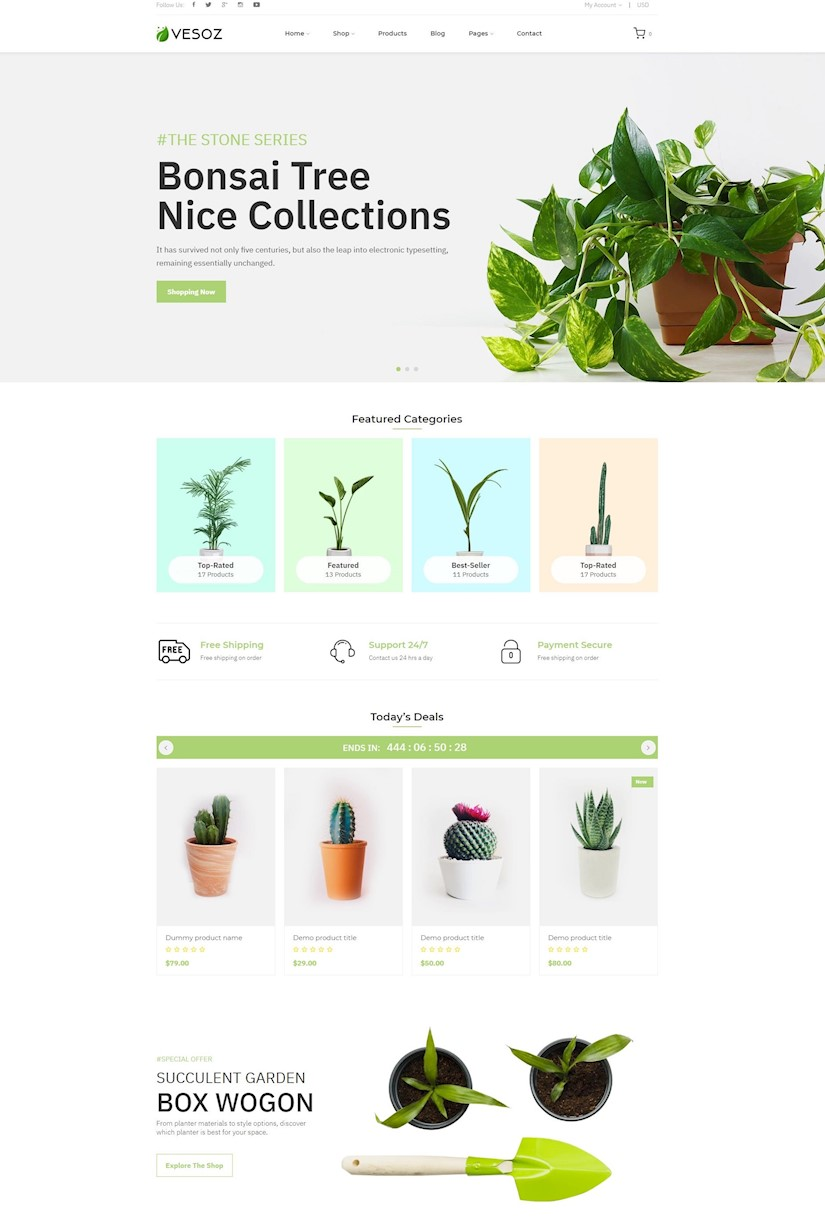 plants and nursery shopify theme