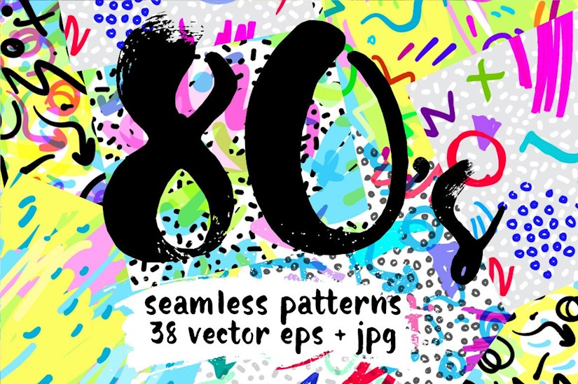 80s style 38 vector patterns
