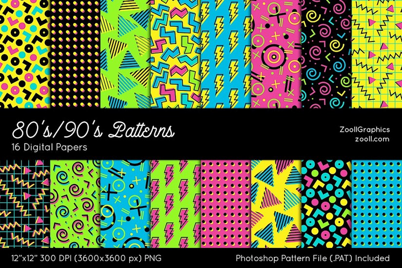 80s90s digital papers