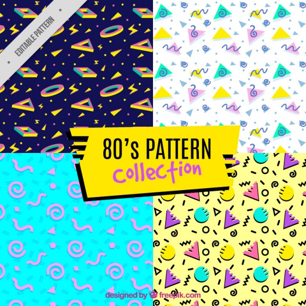 eighties patterns full color