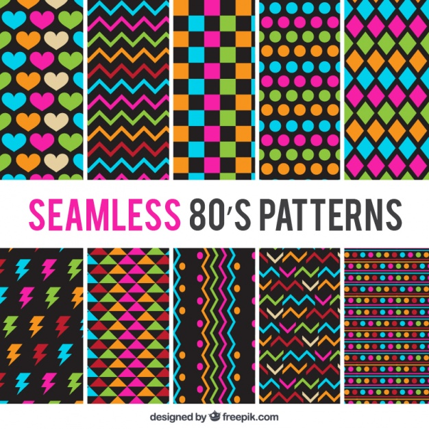pack eighties colored patterns23 2147571157