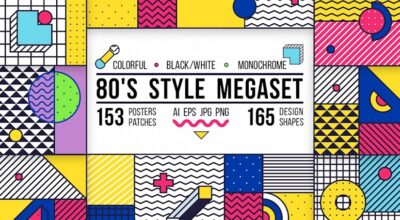 posterselements set. 80s style