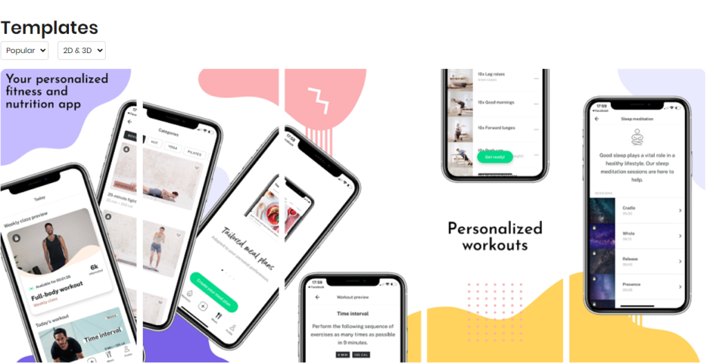previewed app template example